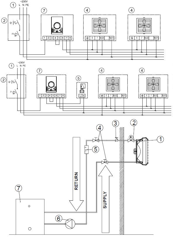 Обвязка volcano v2 по воде (схема) и подключение к регулятору WING\VOLCANO (DX)