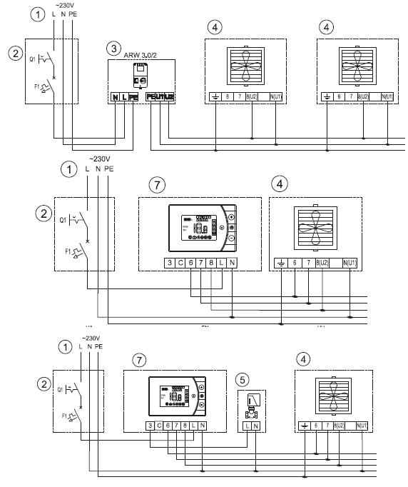 Подключение volcano vr2 к регулятору на 5 скоростей ARW 3.0 а также к контроллеру с недельным таймером EH 20.3 для WING\VOLCANO